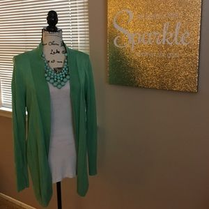 Soft green Merona cardigan sweater. EUC